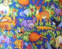 Krazy Zoo Toss of Bright Coloured Animals On A Blue Background